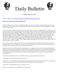 Daily Bulletin  Friday, March 6, 2015
