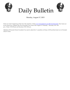 Daily Bulletin  Monday, August 17, 2015
