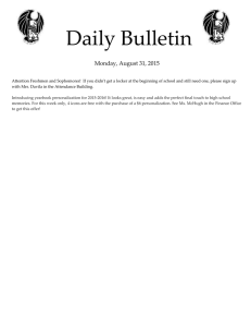 Daily Bulletin  Monday, August 31, 2015