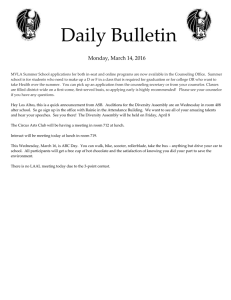 Daily Bulletin  Monday, March 14, 2016