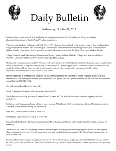 Daily Bulletin  Wednesday, October 21, 2015