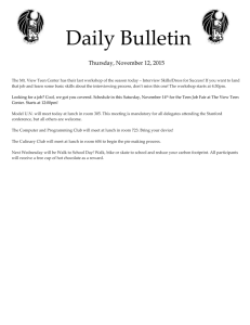 Daily Bulletin  Thursday, November 12, 2015