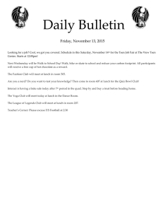 Daily Bulletin  Friday, November 13, 2015