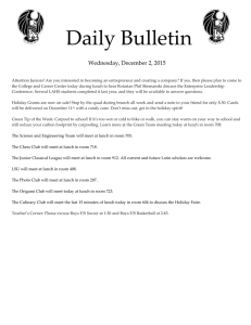 Daily Bulletin  Wednesday, December 2, 2015