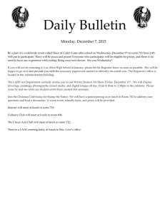 Daily Bulletin  Monday, December 7, 2015