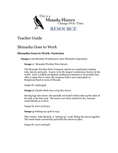 Teacher Guide  Menasha Goes to Work: Factories