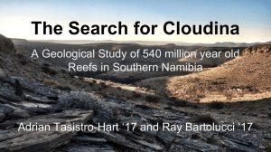 The Search for Cloudina Hart '17 and Ray Bartolucci '17 Adrian Tasistro-