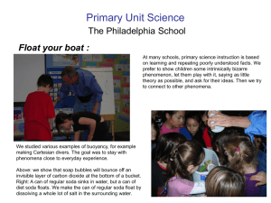 Primary Unit Science Float your boat : The Philadelphia School
