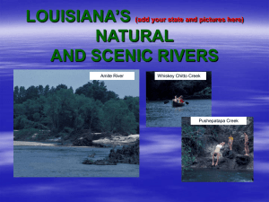 LOUISIANA'S NATURAL AND SCENIC RIVERS (add your state and pictures here)