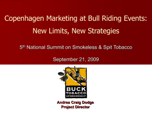 Copenhagen Marketing at Bull Riding Events: New Limits, New Strategies 5