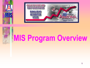 MIS Program Overview 1