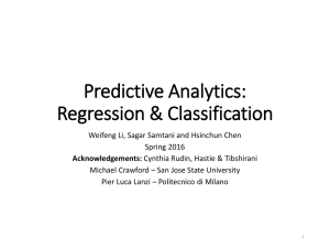 Predictive Analytics: Regression & Classification