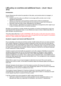 – ( LSE policy on overtime and additional hours Draft 1 March 2012)