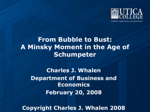 From Bubble to Bust: A Minsky Moment in the Age of Schumpeter
