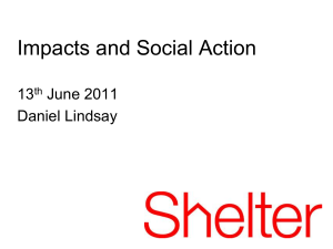 Impacts and Social Action 13 June 2011 Daniel Lindsay