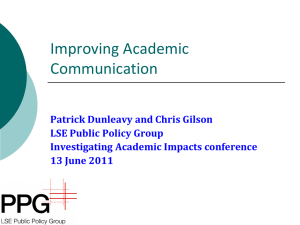 Improving Academic Communication
