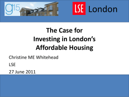 London The Case for Investing in London's Affordable Housing