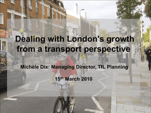 Dealing with London's growth from a transport perspective 15