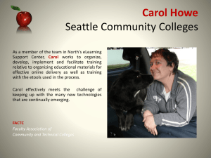 Carol Howe Seattle Community Colleges