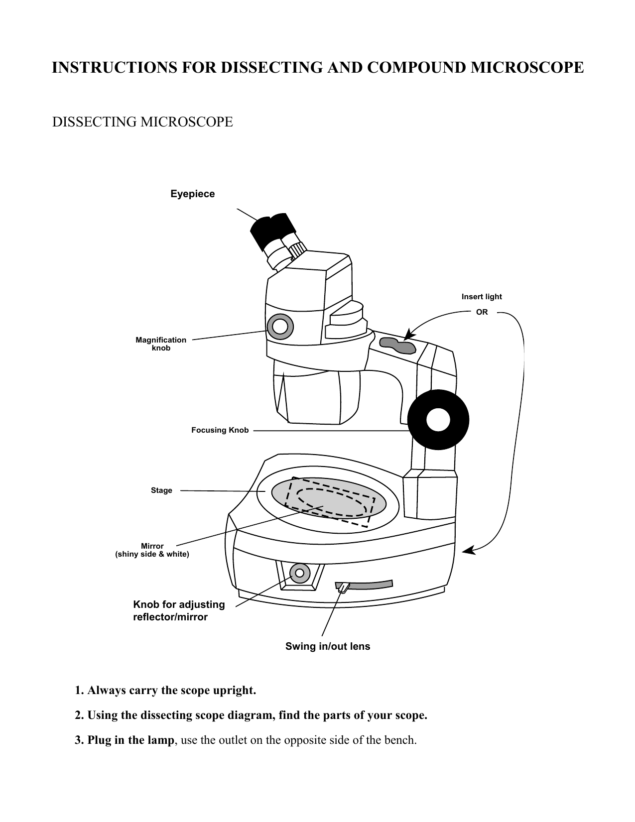 Instructions for dissecting and compound microscope dissecting instructions for dissecting and compound microscope dissecting microscope the dissecting microscope ccuart Gallery