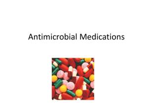 Antimicrobial Medications