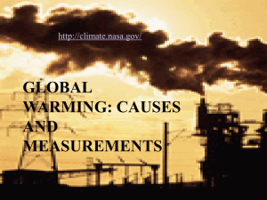 GLOBAL WARMING: CAUSES AND MEASUREMENTS