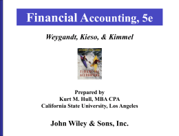 Financial A ccounting, 5e John Wiley & Sons, Inc. Weygandt, Kieso, & Kimmel