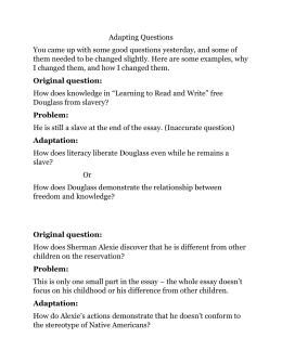 frederick douglass questions answer key rh studylib net narrative of the life of frederick douglass study guide answer key Worksheets with Answer Keys