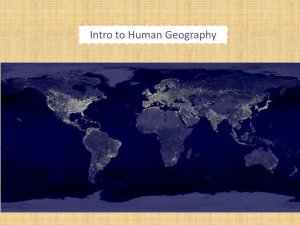 Intro to Human Geography