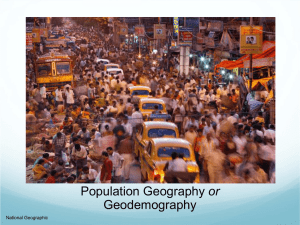 or Geodemography National Geographic