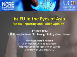 EU in the Eyes of Asia The Media Reporting and Public Opinion 1