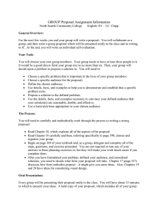 GROUP Proposal Assignment Information