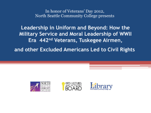 Leadership in Uniform and Beyond: How the Era 442 Veterans, Tuskegee Airmen,