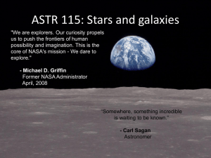 ASTR 115: Stars and galaxies