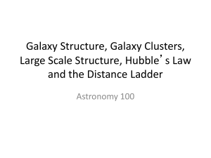 Galaxy Structure, Galaxy Clusters, Large Scale Structure, Hubble's Law Astronomy 100