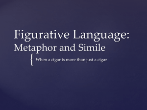 { Figurative Language: Metaphor and Simile