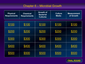 – Microbial Growth Chapter 6 $100 $200