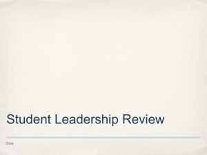 Student Leadership Review Date