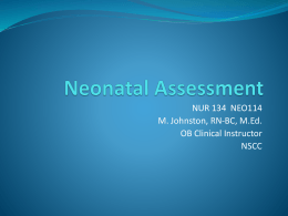 Newborn Assessment Revised