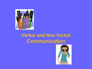 Communication Verbal and Non Verbal
