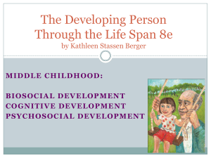 The Developing Person Through the Life Span 8e MIDDLE CHILDHOOD: BIOSOCIAL DEVELOPMENT
