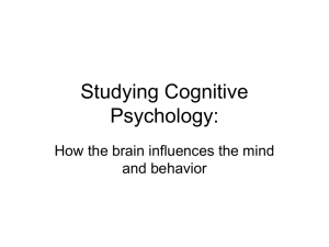 Studying Cognitive Psychology: How the brain influences the mind and behavior
