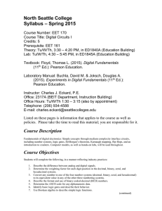 North Seattle College – Spring 2015 Syllabus