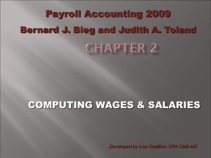 COMPUTING WAGES & SALARIES Payroll Accounting 2009