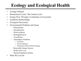 Ecology and Ecological Health