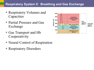  Respiratory Volumes and Capacities Partial Pressure and Gas