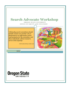 Search Advocate Workshop