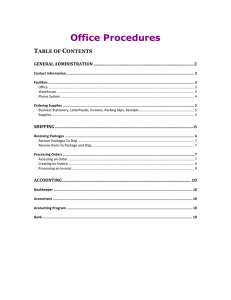 Office Procedures T C