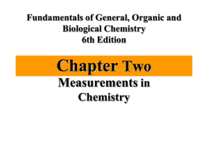 Chapter Two Measurements in
