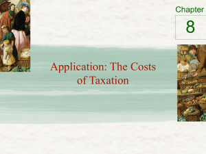 8 Application: The Costs of Taxation Chapter